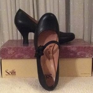 Sofft Black Leather Mary Janes